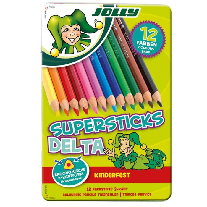 JOLLY Buntstifte Supersticks DELTA 12er Metalletui