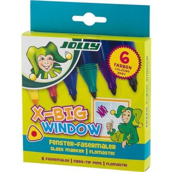 JOLLY X-BIG Window - Fenstermaler 6er