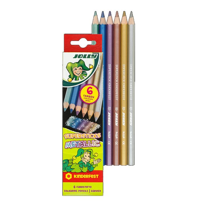 JOLLY Buntstifte Supersticks Metallic 6er