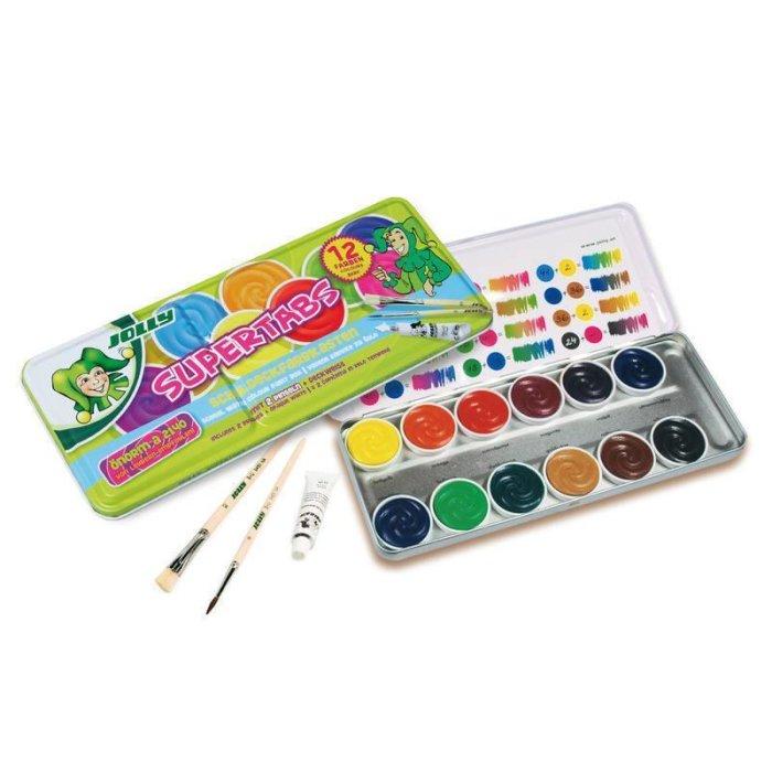 bae668088e1e8 JOLLY Deckfarben Supertabs 12er inkl. 2 Pinsel und Deckweiss Bestseller