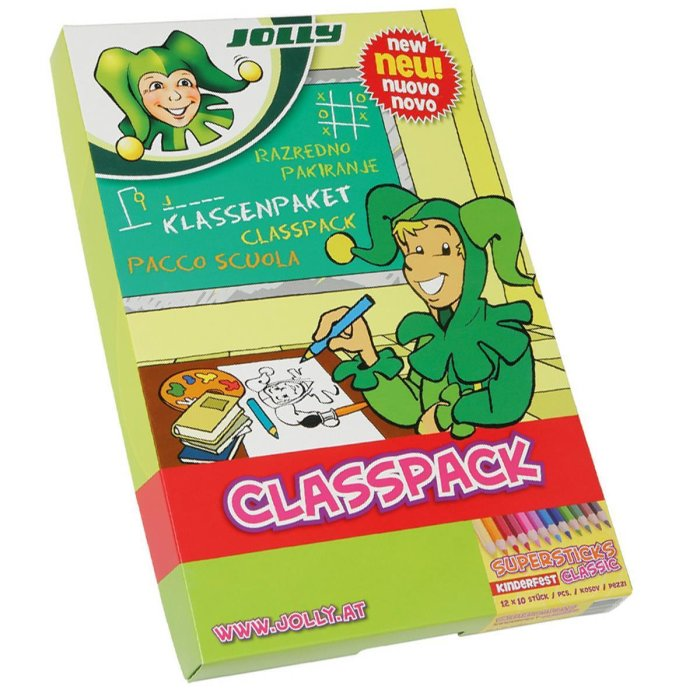 JOLLY Supersticks CLASSIC - CLASSPACK 120 Stk. Grundfarben