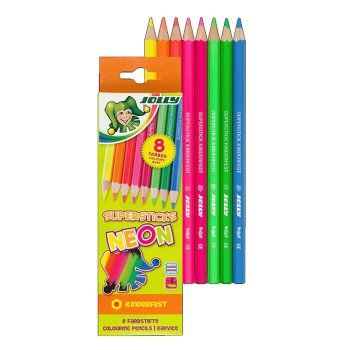 JOLLY Buntstifte Supersticks kinderfest NEON-Kollektion...