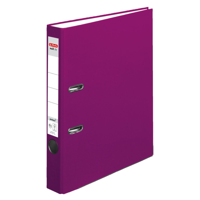 herlitz Ordner maX.file protect A4 50mm brombeere