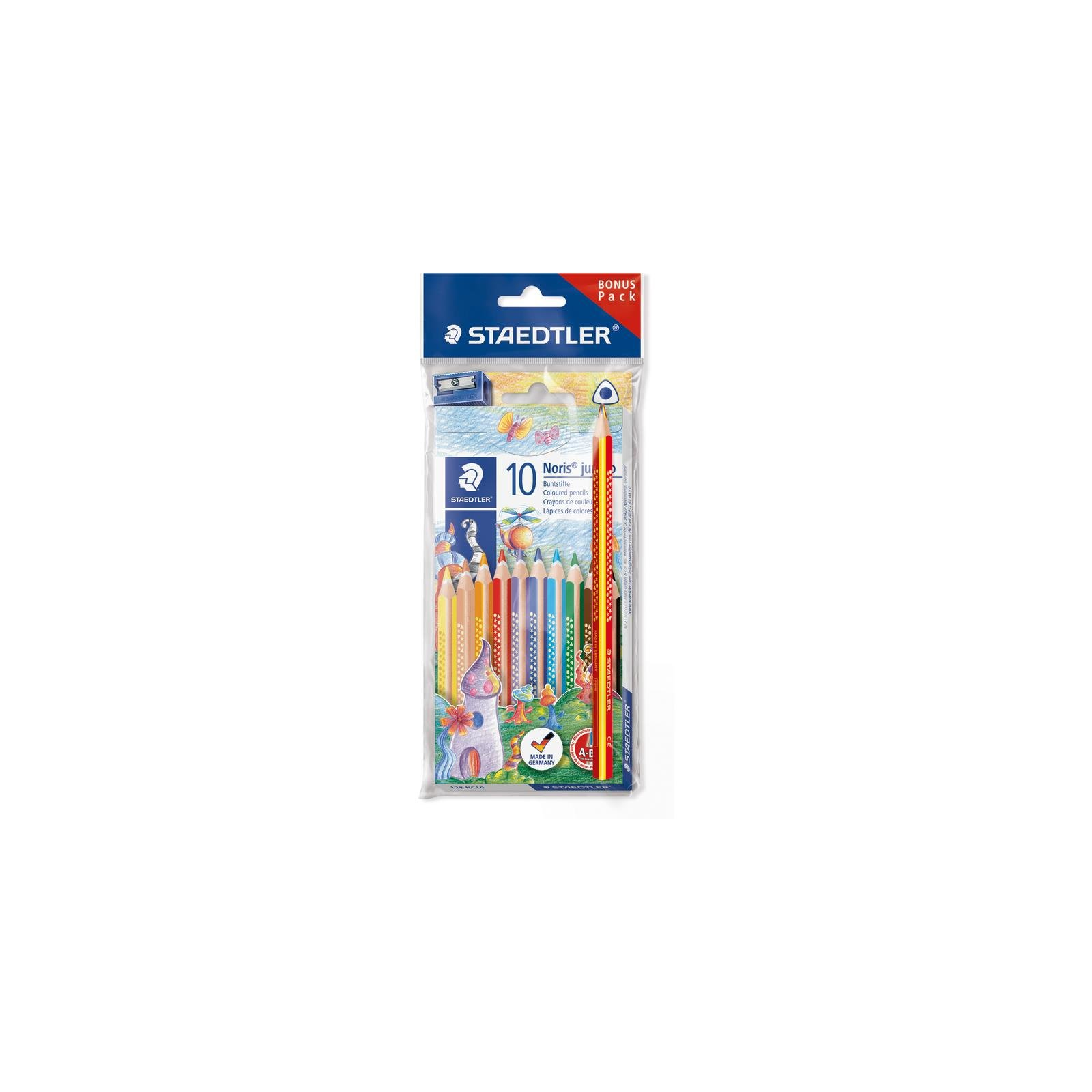 STAEDTLER Dreikant-Buntstift Noris Club jumbo Bonus Pack