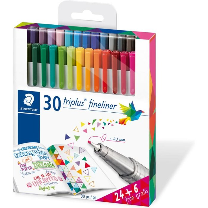 STAEDTLER 334 triplus Fineliner Brilliant Colours 24er +...