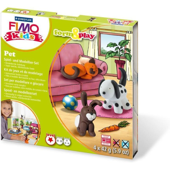 FIMO kids Modellier-Set Form & Play Pet, Level 1