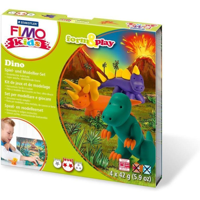 FIMO kids Modellier-Set Form & Play Dino, Level 2