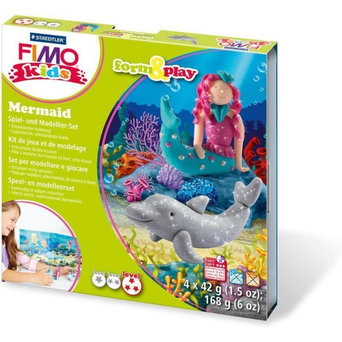 FIMO kids Modellier-Set Form & Play Mermaid, Level 3