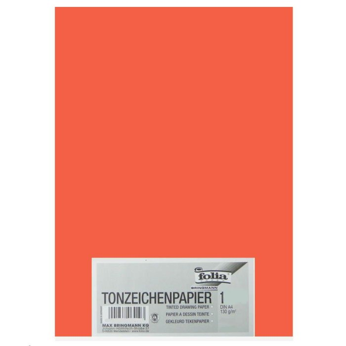 folia Tonpapier, DIN A4, 130 g/qm, orange